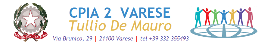 """CPIA 2 Varese """"Tullio De Mauro"""" - CENTRO PROVINCIALE ISTRUZIONE ADULTI"""